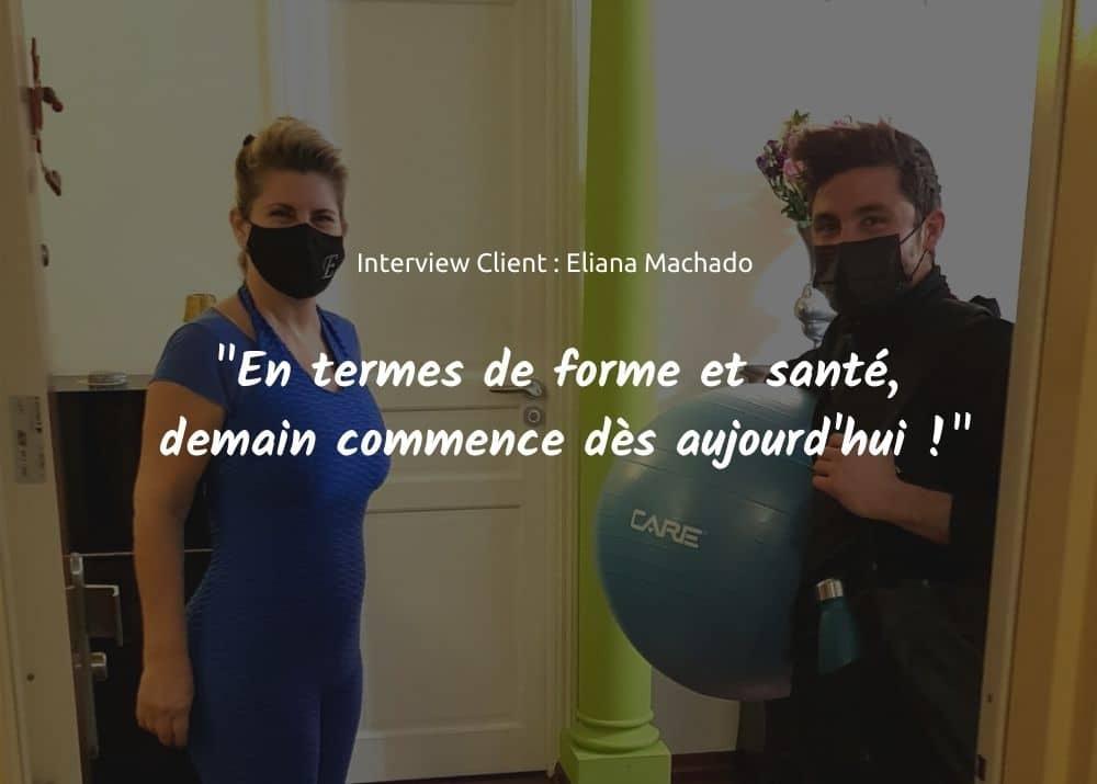 """Eliana Machado: """"en termes de forme et santé, demain commence dès aujourd'hui!"""""""